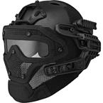 Шлем с маской Fast PJ (реплика) (Black)