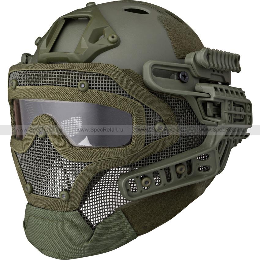 Шлем с маской Fast PJ (реплика) (Olive)