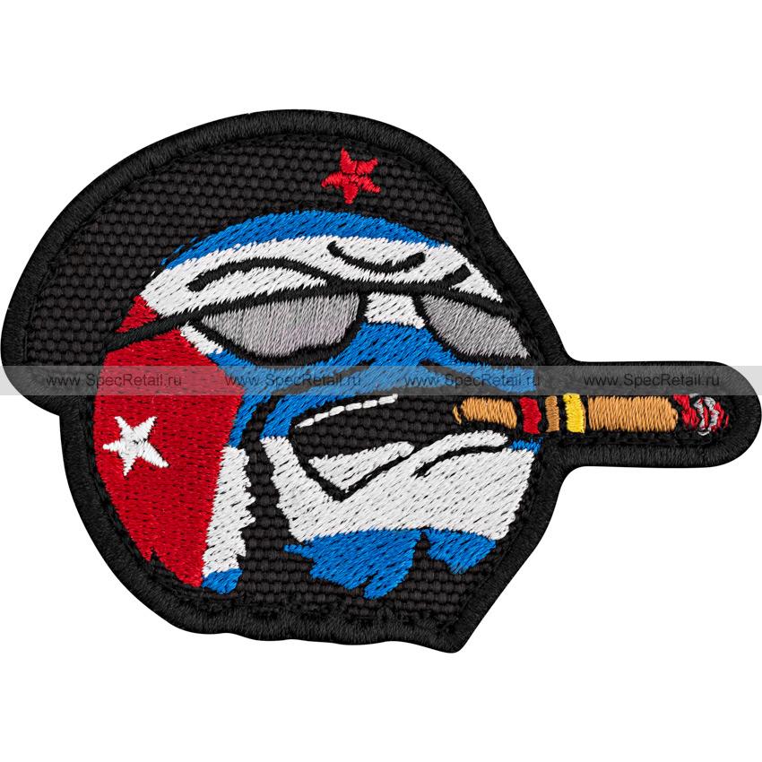 "Шеврон текстильный ""Countryball Куба"", 8.5x5.9 см"