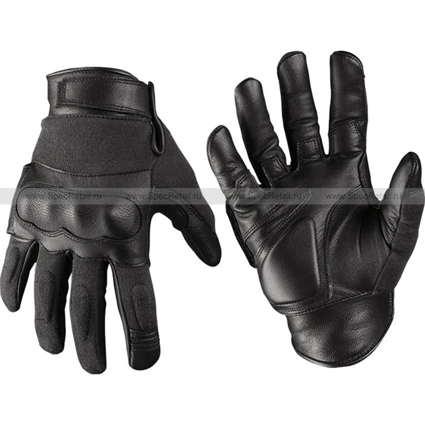 Перчатки тактические Aramid (Mil-Tec), кожаные (Black)