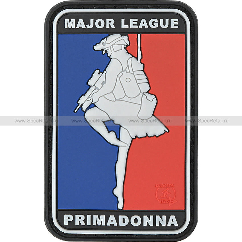 "Шеврон ПВХ ""Major League Primadonna"", 4.3x6.8 см"