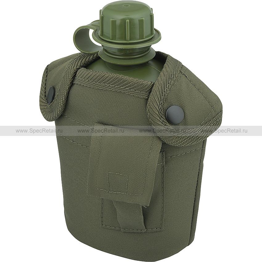 Питьевая фляга с чехлом, 1 литр (Tactical PRO) (Olive)