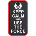 """Шеврон ПВХ """"Keep calm and use the force"""", 5x8.9 см"""