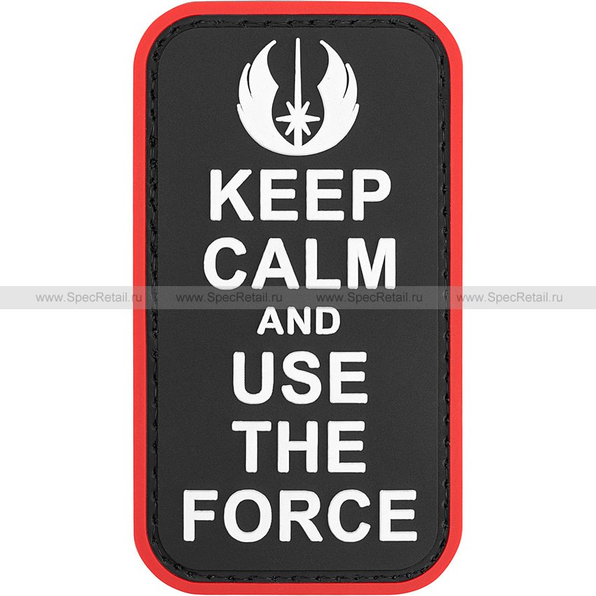 "Шеврон ПВХ ""Keep calm and use the force"", 5x8.9 см"