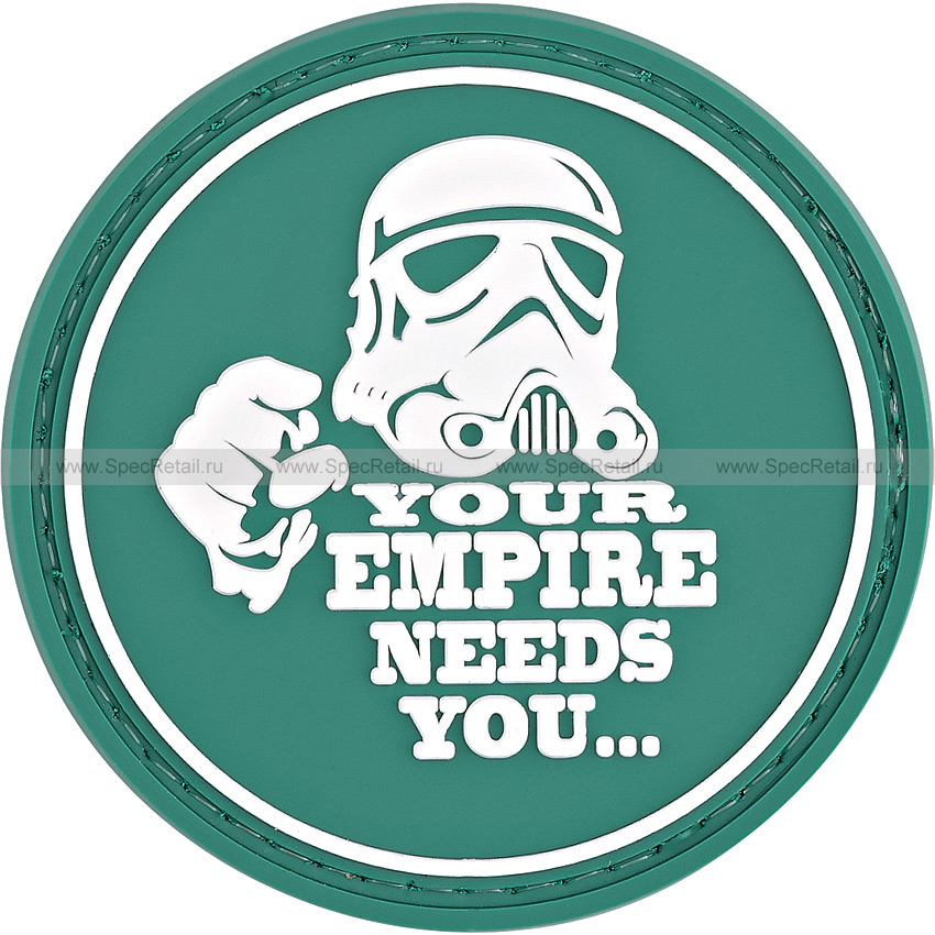 "Шеврон ПВХ ""Your empire needs you..."", диаметр 6 см"