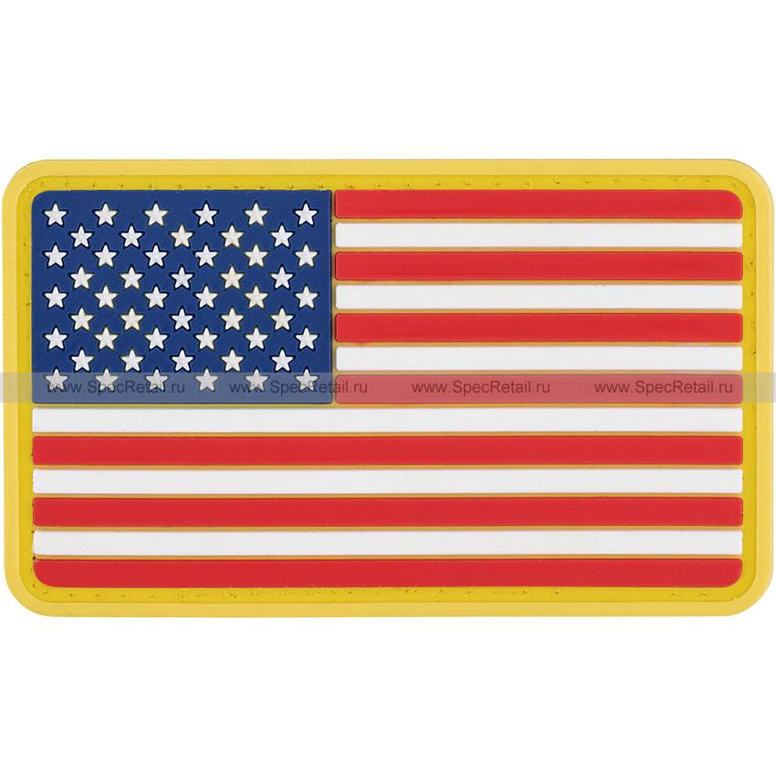 """Шеврон ПВХ """"Флаг США"""", 8.6x5 см"""