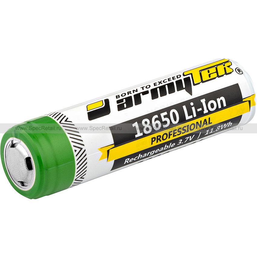 Аккумулятор литий-ионный 18650, 3.7V (Armytek)