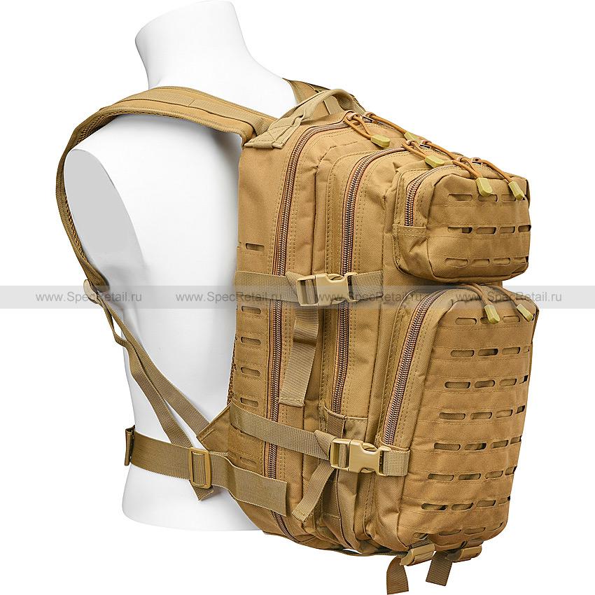 """Военный рюкзак """"US Assault I"""", Laser cut, 30 литров (Tan)"""