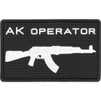 "Шеврон ПВХ ""AK operator"", гекс, черный, 7.9x4.9 см"