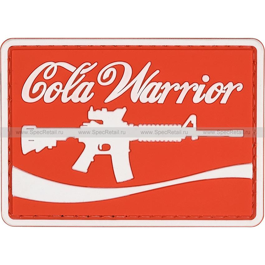 "Шеврон ПВХ ""Cola Warrior"", 7x5 см"