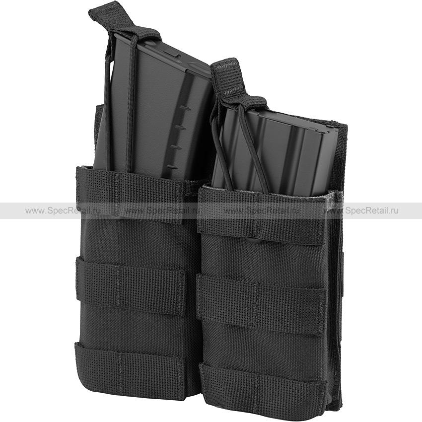 Подсумок под 2 магазина АК или M4, быстрый доступ (Ars Arma) (Black)