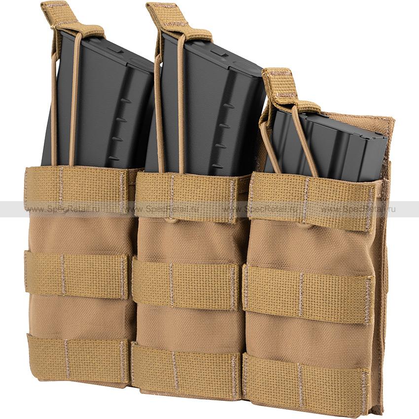 Подсумок на 3 магазина АК или M4, быстрый доступ (Ars Arma) (Coyote Brown)