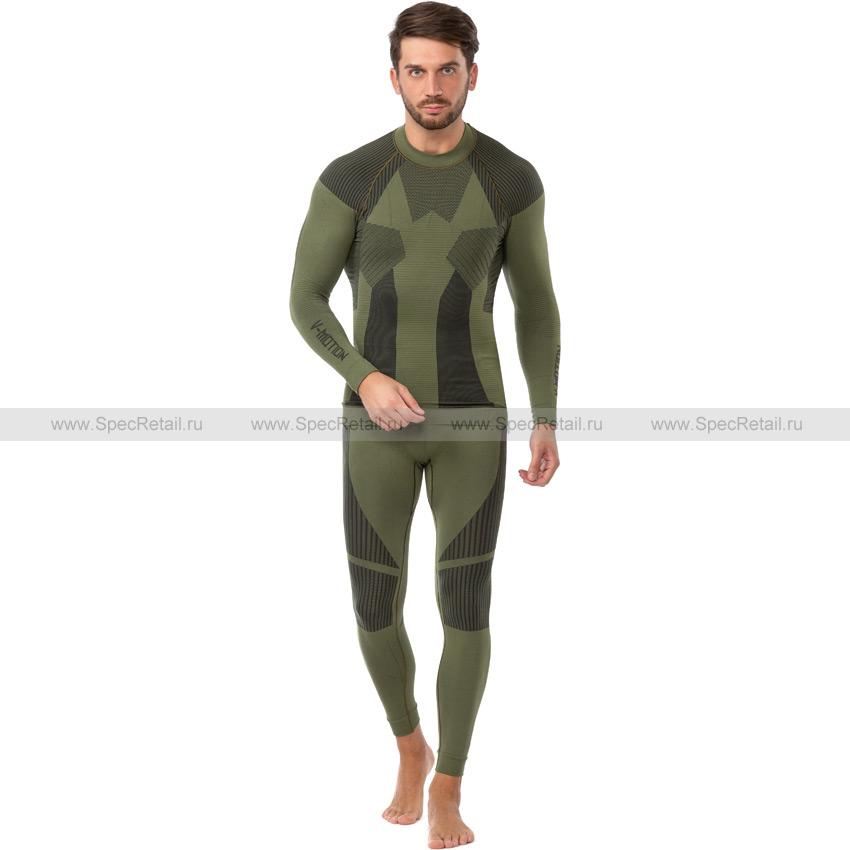 Комплект термобелья F10 (футболка кальсоны) (V-MOTION) (Olive)