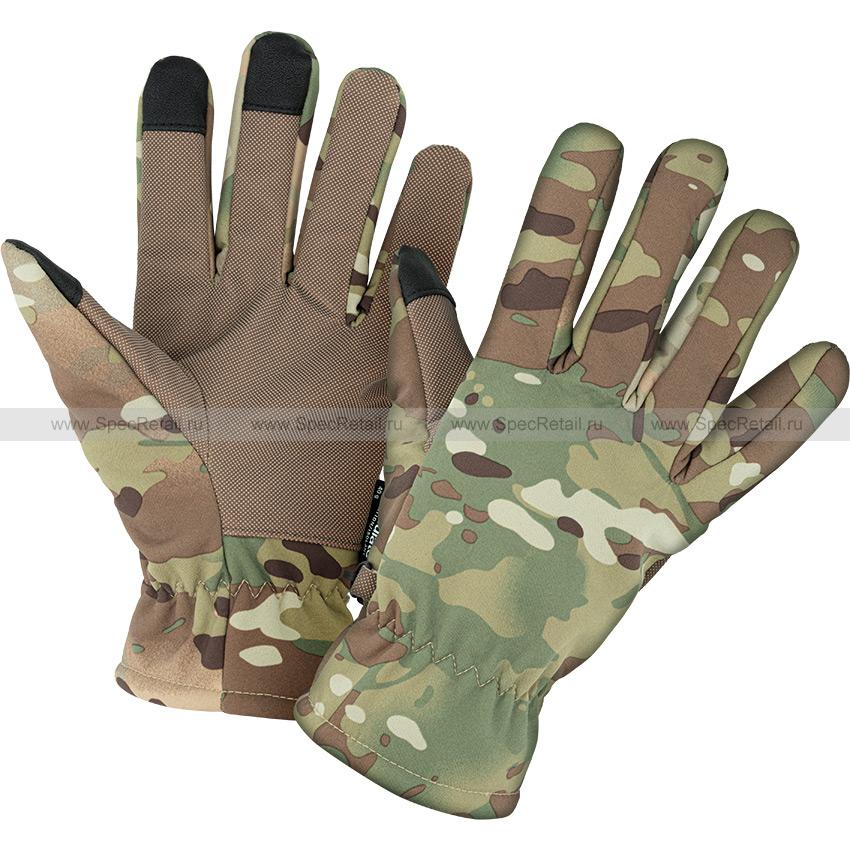 Перчатки софтшелл Thinsulate (Mil-Tec) (Multicam)