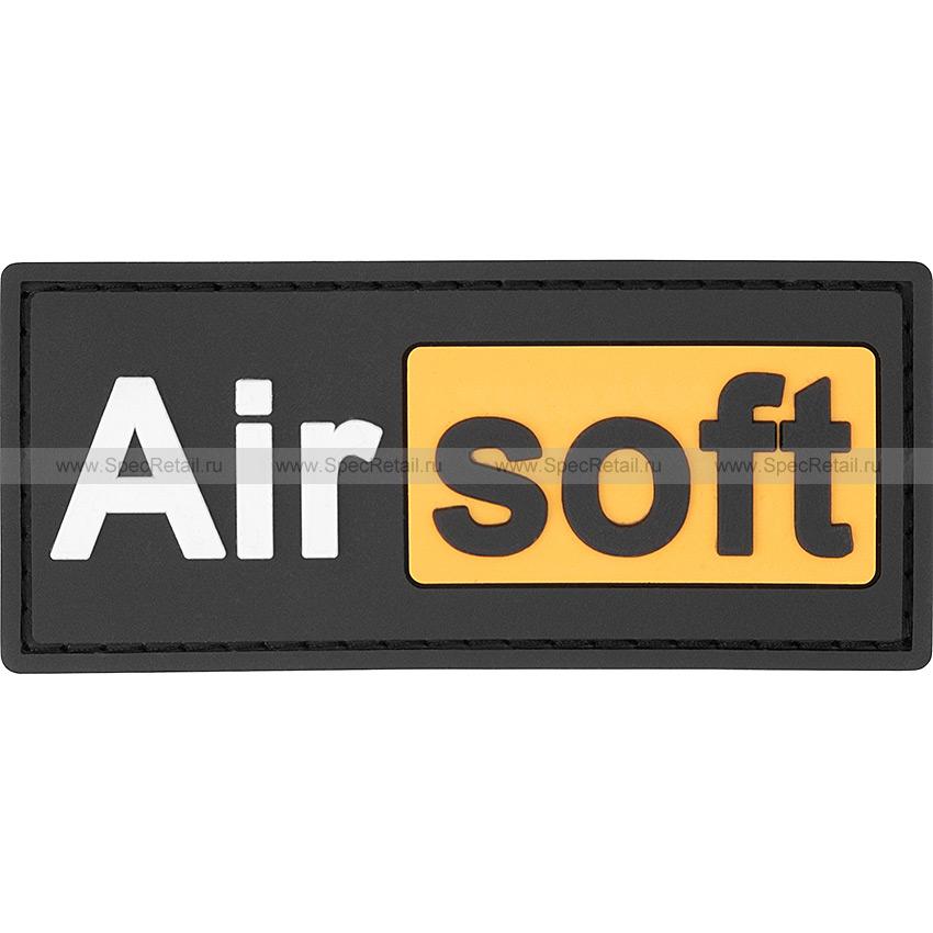 "Шеврон ПВХ ""Airsoft"", 8.9x3.9 см"