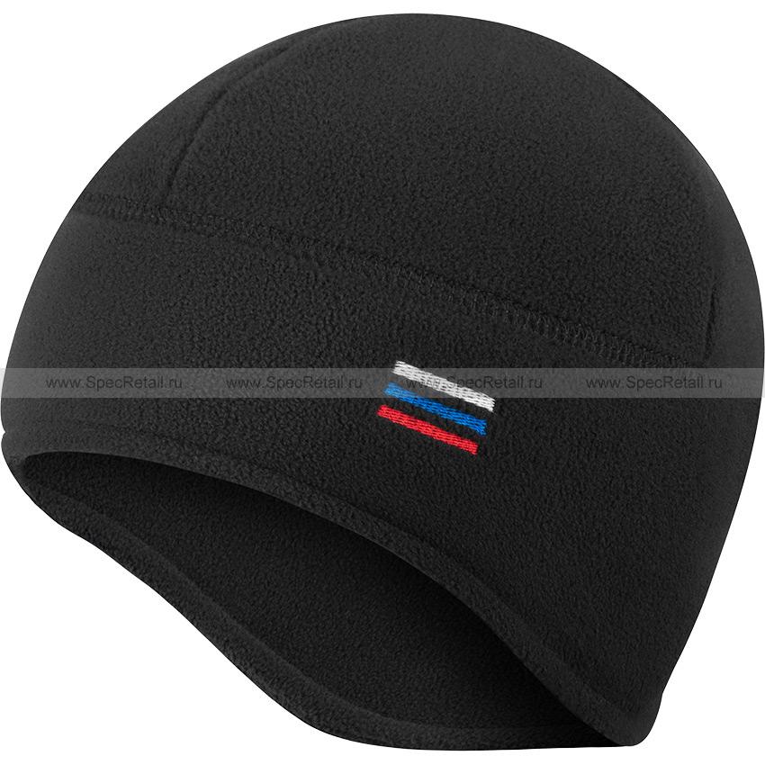 Шапка флисовая, с увеличенной зоной ушей (Stich Profi) (Black)