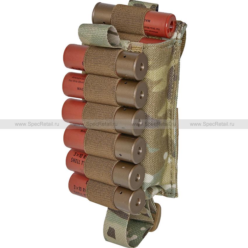 """Подсумок для 12 патронов 12-20 калибра """"Шелл"""" (WARTECH) (Multicam)"""
