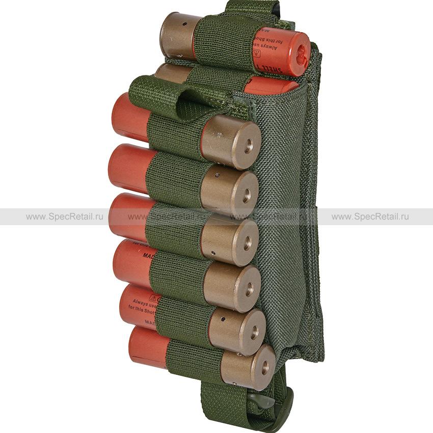 """Подсумок для 12 патронов 12-20 калибра """"Шелл"""" (WARTECH) (Olive)"""